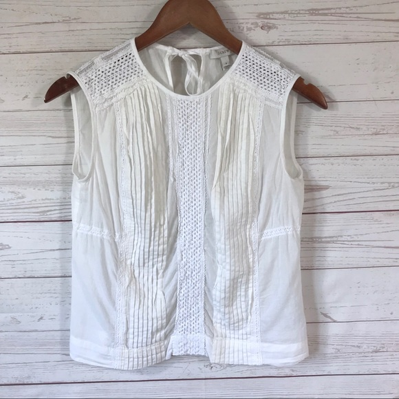 J. Crew Tops - J.Crew cropped shell white cotton top size 2